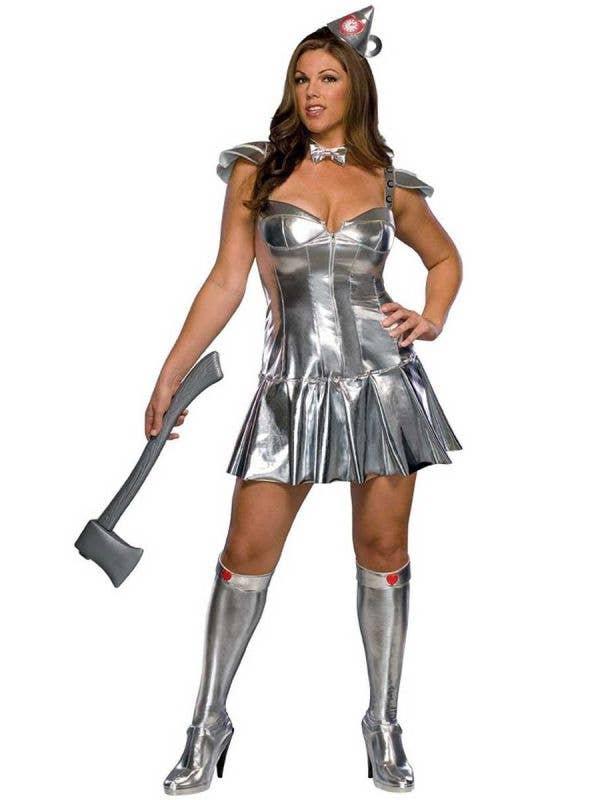 Women's Sexy Wizard of Oz Tin Man Plus Size Costume