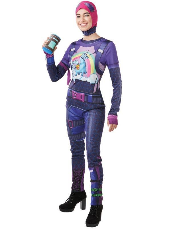 Women's Brite Bomber Licensed Fortnite Costume Front Image