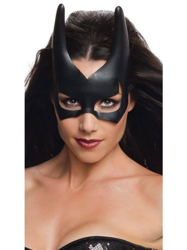 Batgirl Masquerade Fancy Dress Costume Mask Main Image