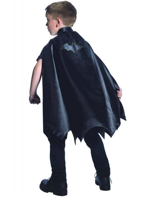 Boys Black Batman Superhero Costume Cape