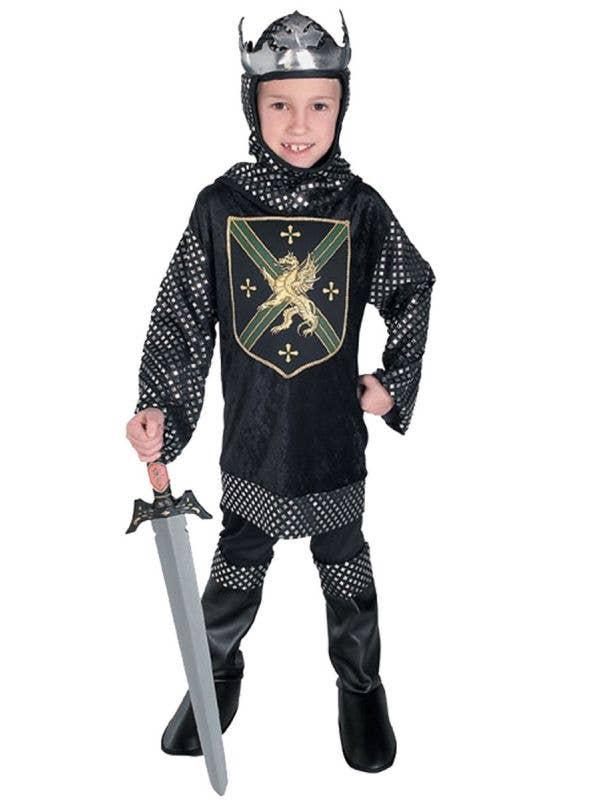 Boys Medieval Knight King's Warrior Fancy Dress Costume