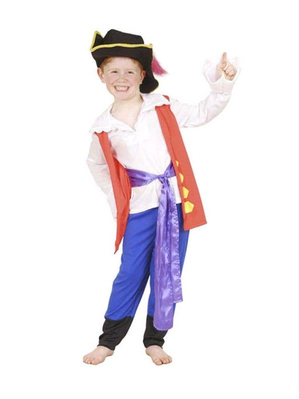 47897e1a6 Wiggles Kids Costume | Boys Pirate Captain Feathersword Costume