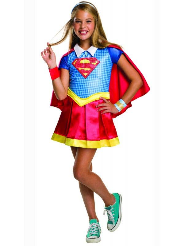 Superhero High Girl's Supergirl Fancy Dress Costume