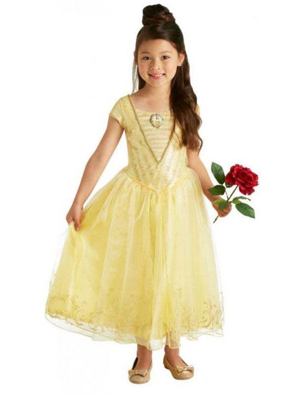 Girls Princess Belle Costume Fairytale Disney Book Week Costume