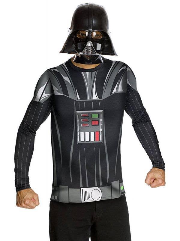 Darth Vader Costume Shirt and Mask Set For Men