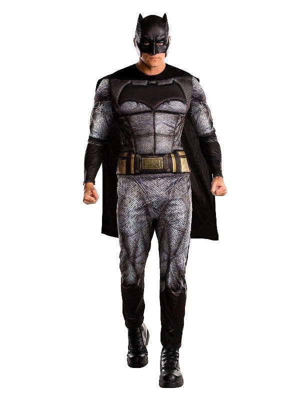 Men's Justice League Batman Teachers Book Week Superhero Fancy Dress Costume Main Image