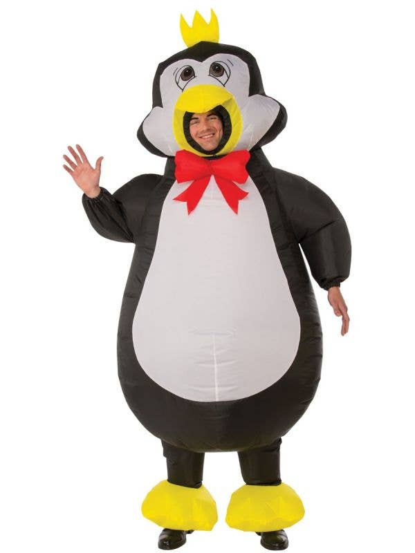 Inflatable Adult's Novelty Penguin Fancy Dress Costume Main Image