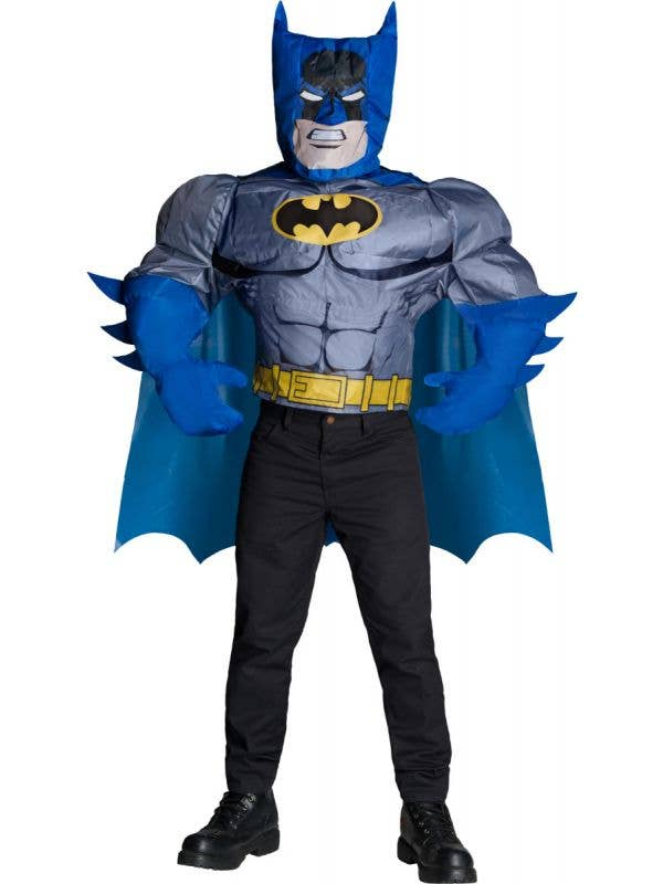 Men's Inflatable Superhero Batman Costume with Cape Main Image