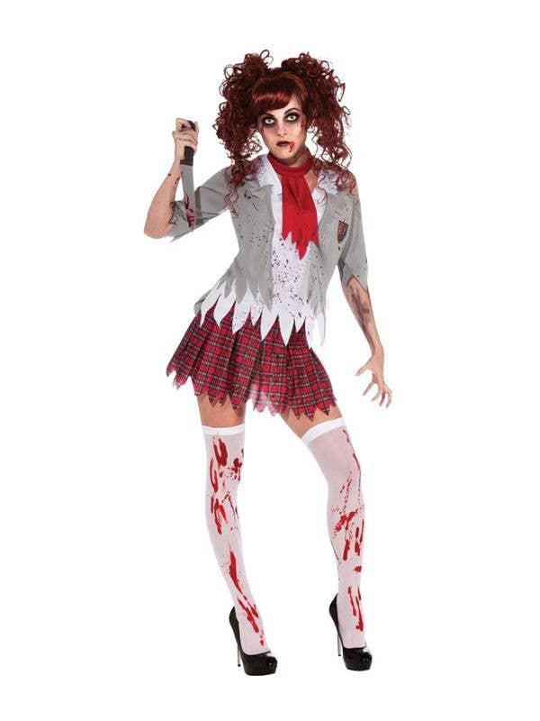 04324a5534dc8c Schoolgirl Zombie Costume | Women's Schoolgirl Sexy Halloween Costume