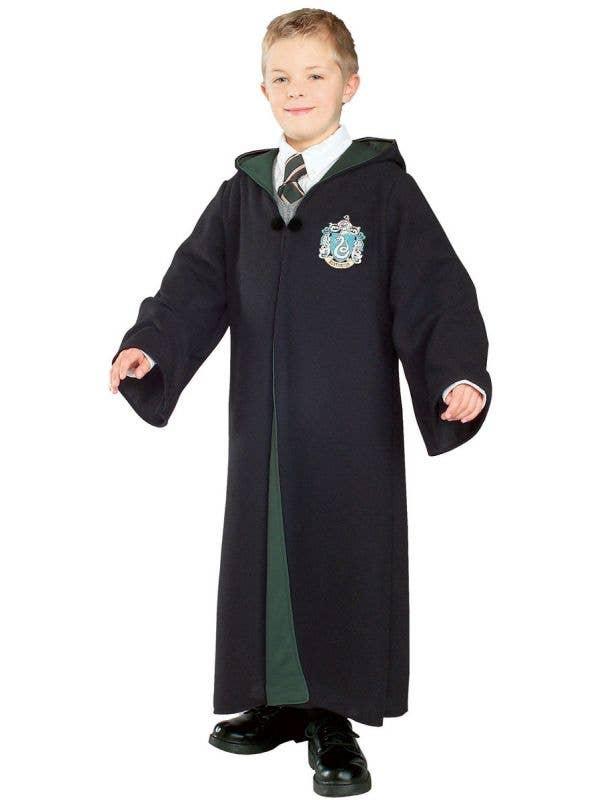 Boy's Harry Potter Deluxe Slytherin Fancy Dress Costume Robe