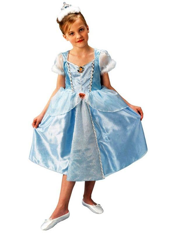 bada8a91 Girls Blue Cinderella Princess Fancy Dress Costume Book Week Main View