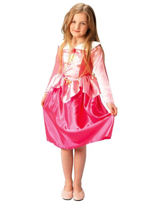 Pink Girl's Sleeping Beauty Princess Costume Front View