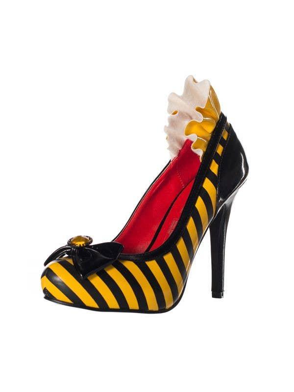 9cda7820836 Striped Yellow Bumblebee High Heel Shoes