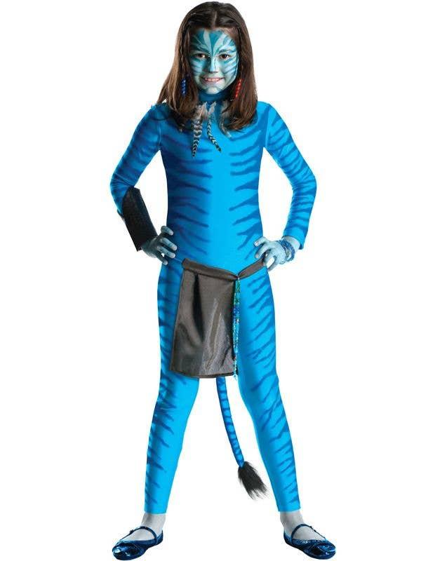 Blue Neytiri Girl's Avatar Costume Front View