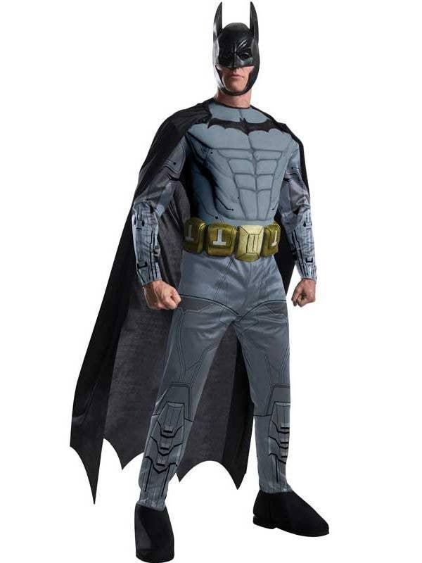 Bat,mam Arkham Men's Muscle Chest Superhero Costume Front