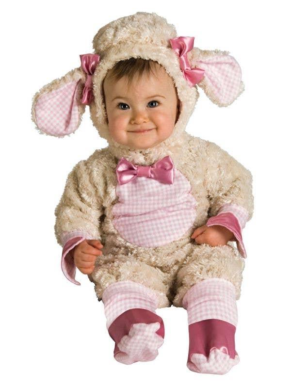 Infant Girls Lucky Little Lamb Animal Costume