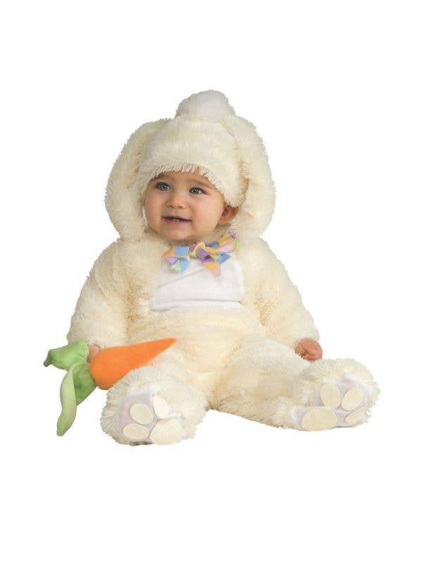 Cute Plush White Baby Easter Bunny Infant Costume Main Image