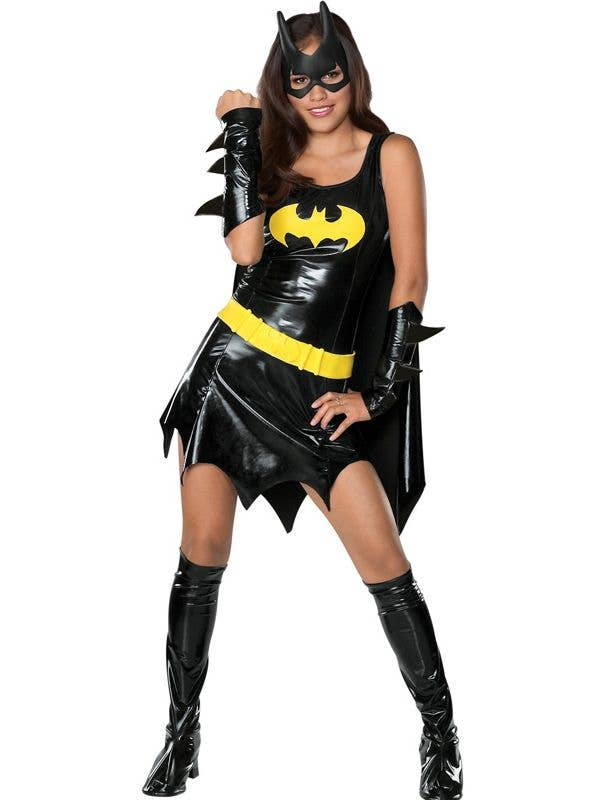 Teen Girlu0027s Batgirl Superhero Costume Front View  sc 1 st  Heaven Costumes & Batgirl Superhero Teen Girls Costume | Teen Batgirl Kids Costume