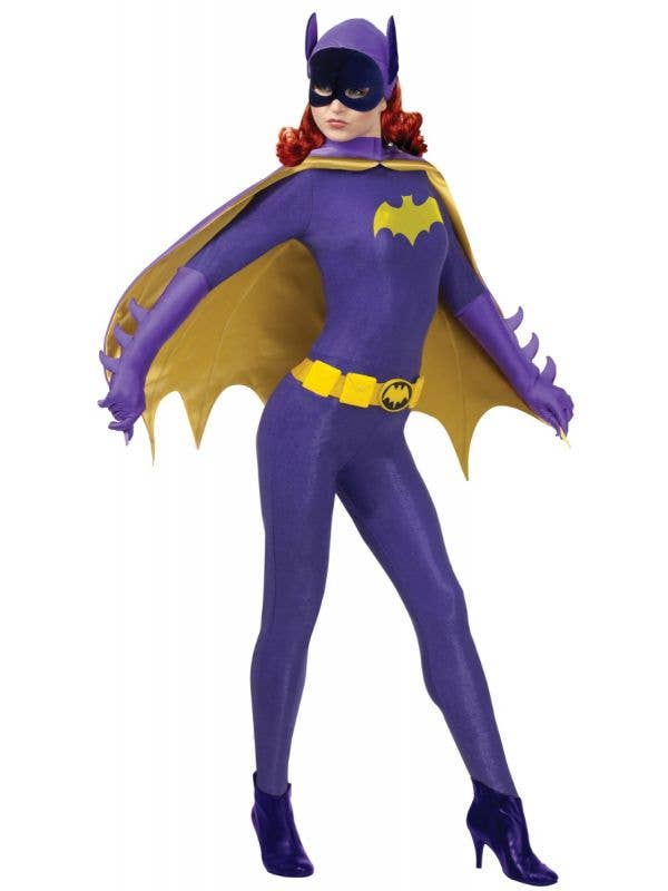 Officially Licensed Women's Batgirl Book Week Fancy Dress Purple Costume