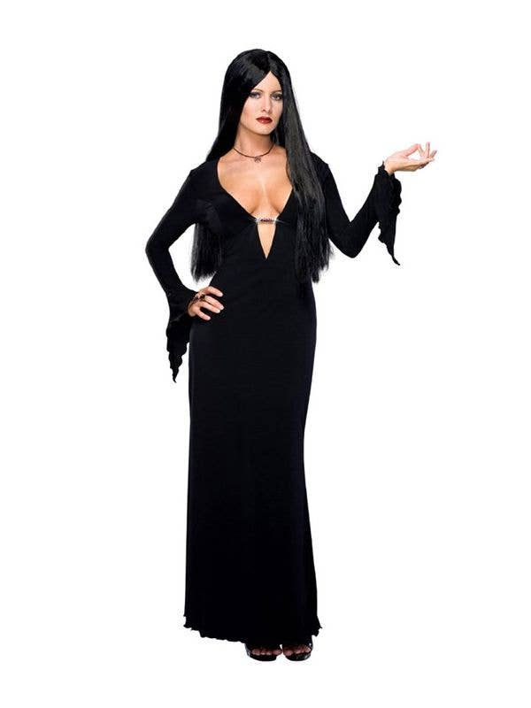 Women's Addams Family Black Sexy Halloween Costume - Main Image
