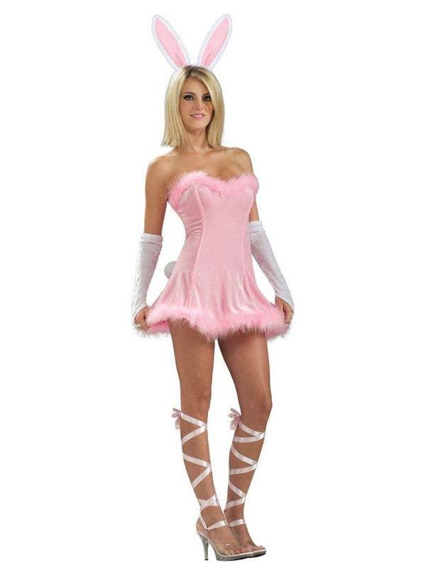 Sexy Pink Bunny Women's Fancy Dress Costume