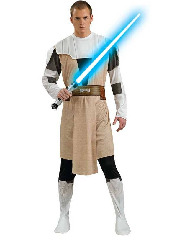 Men's Star Wars Clone Wars Obi-Wan Kenobi Costume Main