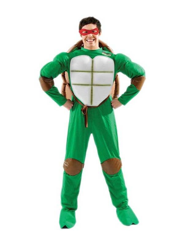 Deluxe Menu0027s Classic 90u0027s Teenage Mutant Ninja Turtles Costume Front