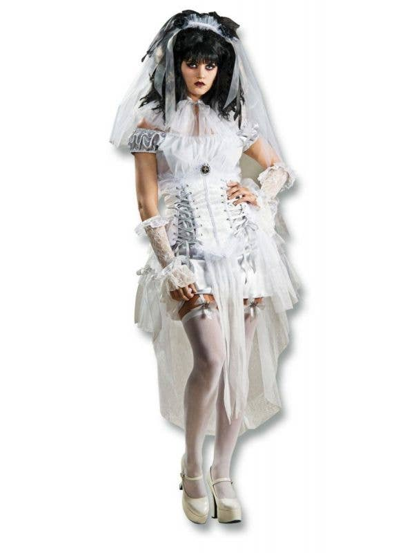 Dead Bride Halloween Costume.Gothic Mistress Dead Bride Halloween Costume