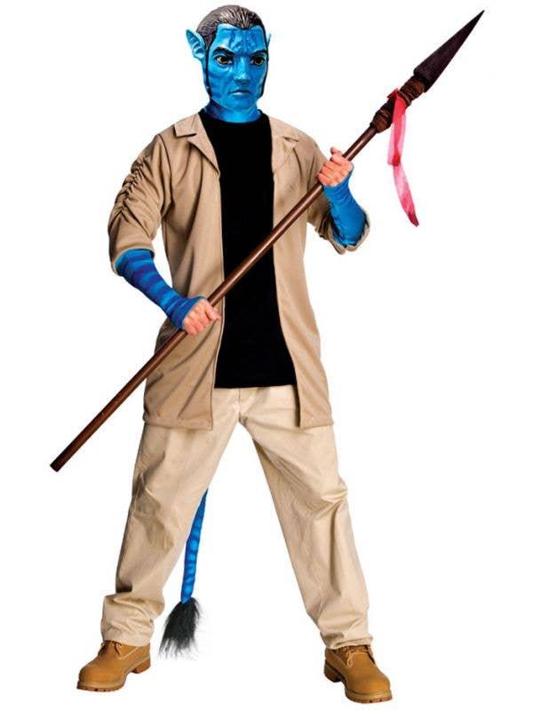 Deluxe Men's Jake Sully Costume Avatar Fancy Dress Costume Main View 1