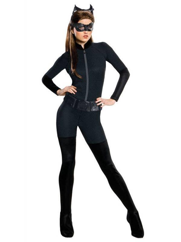 Catwoman Jumpsuit Women's Dark Knight Fancy Dress Costume