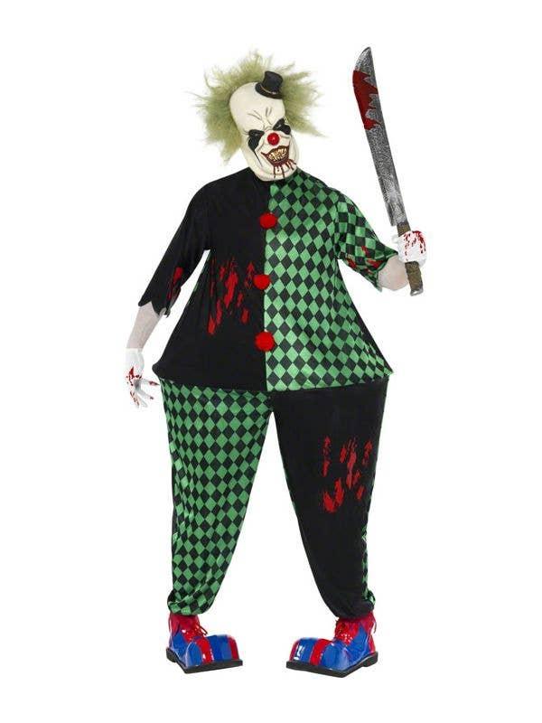 Scary Clown Halloween Costume.Evil Fat Clown Men S Halloween Costume