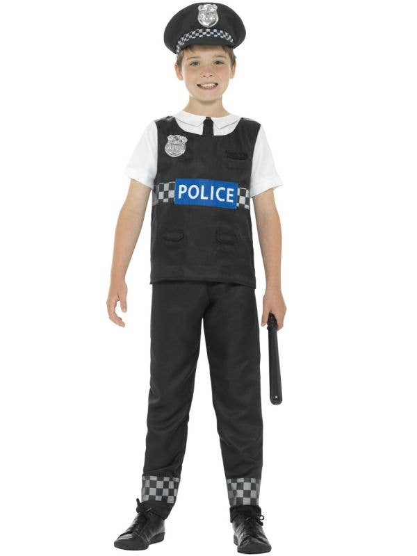 Cop Boys Police Officer Fancy Dress Costume Main Image