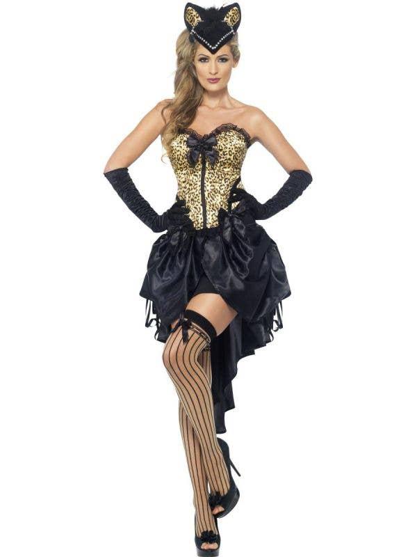 Burlesque Kitten Women's Sexy Costume Front View