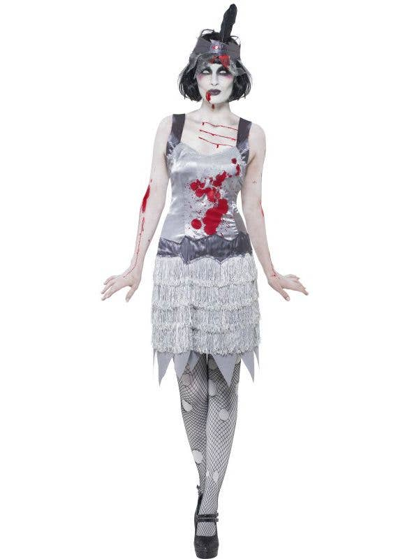 1920s womens great gatsby zombie flapper costume front
