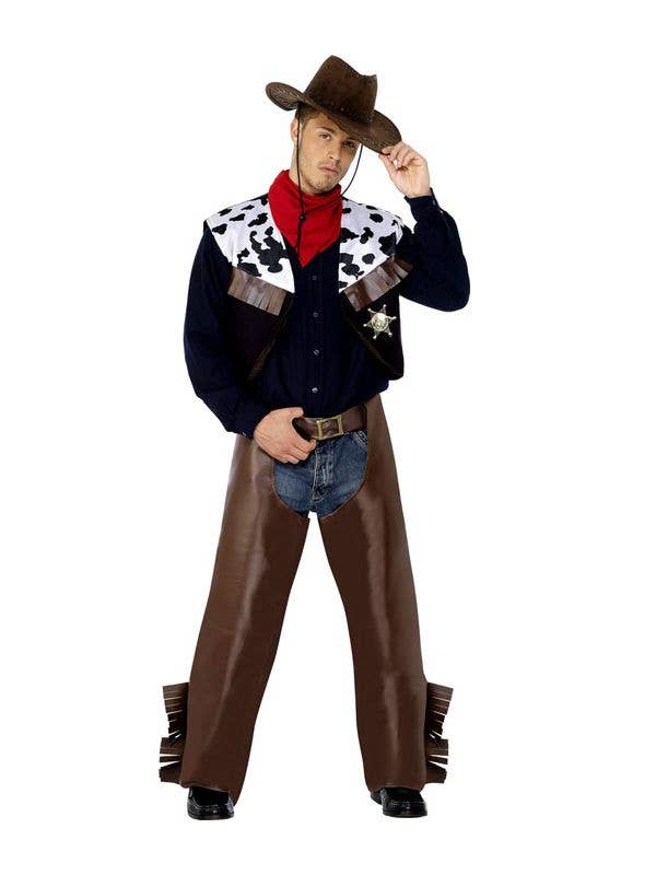 Move your mouse over image or click to enlarge  sc 1 st  Heaven Costumes & Menu0027s Cheap Cowboy Costume Cowboy Sheriff Costume
