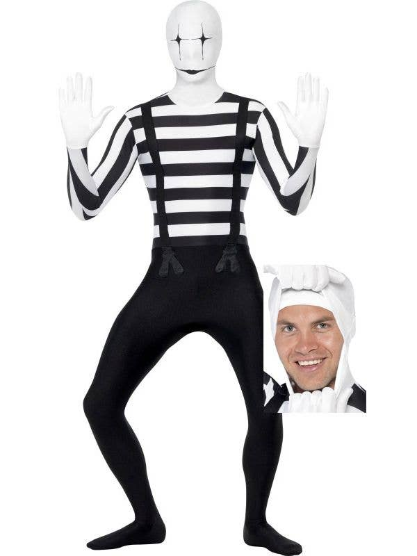 full body suit halloween costume men s second skin mime costume