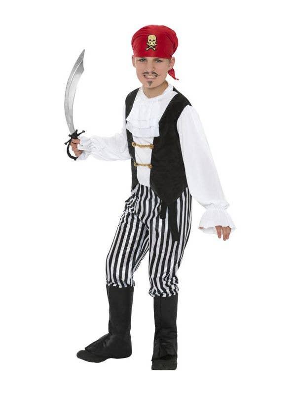 Boy's Pirate Captain Book Week Fancy Dress Costume Front