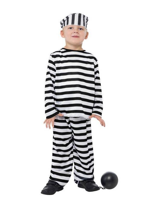 9f55a61dc Boys Striped Convict Prisoner Costume
