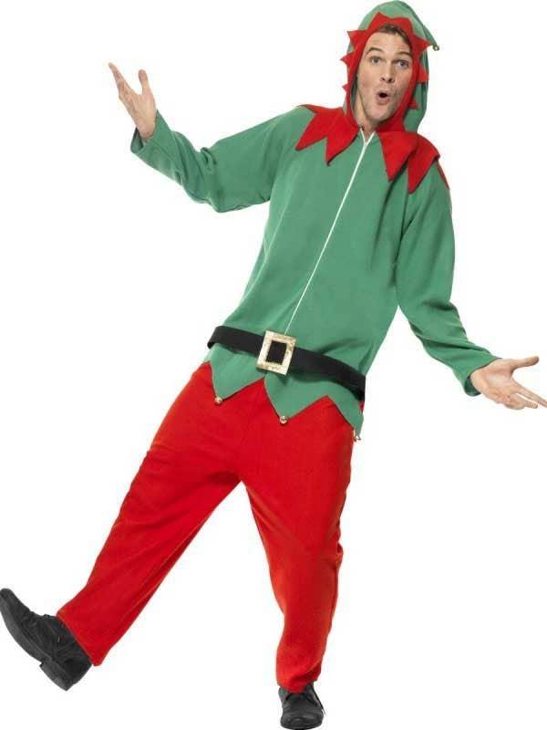 0ffa3913fd16 Christmas Elf Adults Onesie Fancy Dress Costume Front
