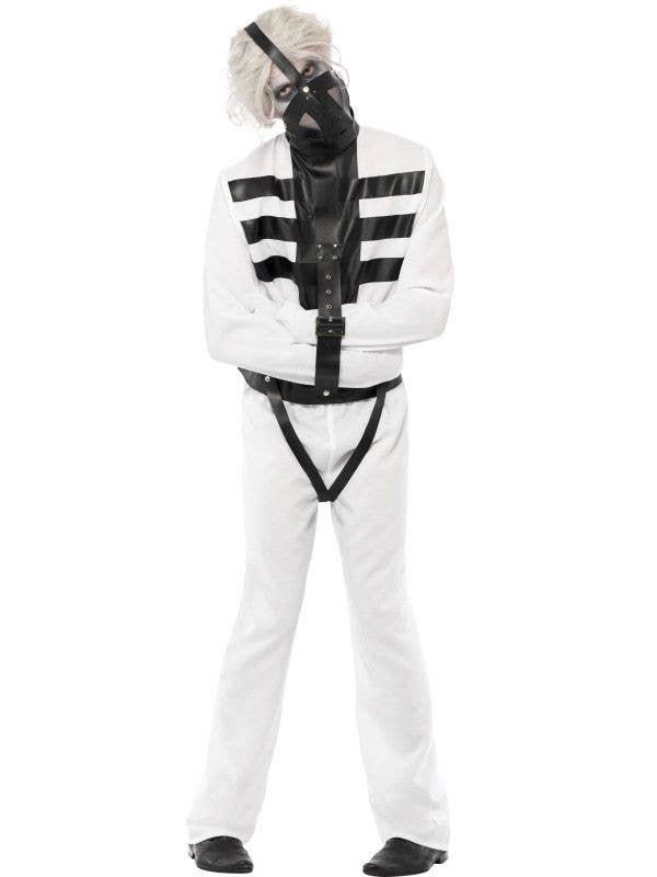 Strait Jacket Halloween Costume Mens White Straightjacket Costume