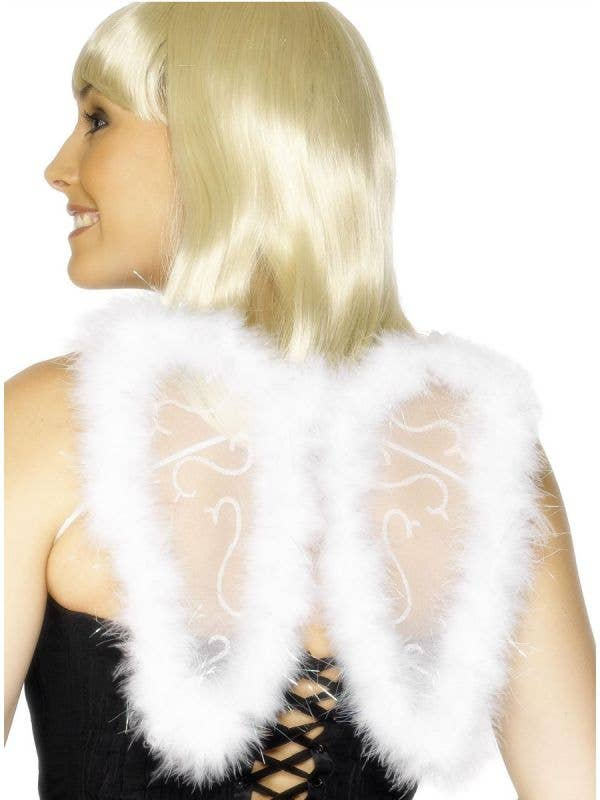 Smiffys Mini Glitter and Feather Angel Wings Costume Accessory - Main Image