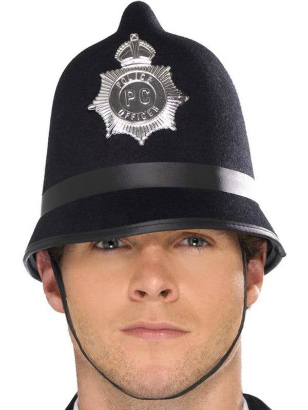 Adult's Black British Police Constable Costume Accessory Hat