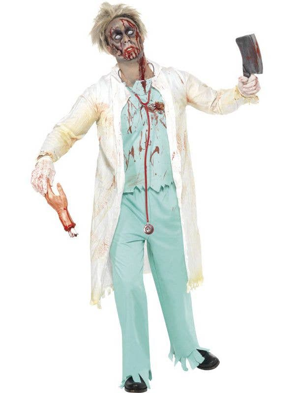 0cfd63fd787f0 Men's Horror Surgeon Zombie Costume | Zombie Doctor Halloween Costume
