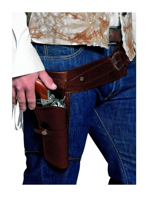 Cowboy and Wildwest Adult Gun and Holster Costume with Black and Brown Colour