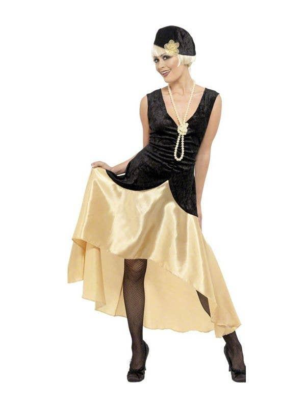 cdf632e240c7b Gatsby Girl 1920's Flapper Costume | Black and Gold Flapper Costume