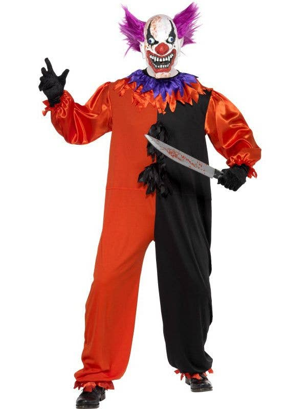 Halloween Costumes Scary Men.Bo Bo The Clown Men S Halloween Costume