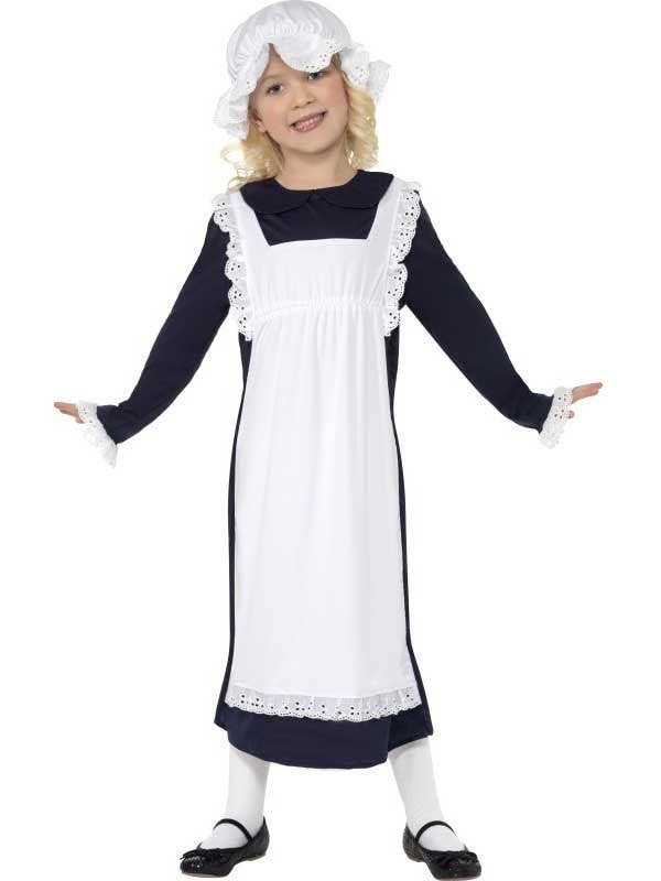 Girl's Peasant Maid Costume Front View