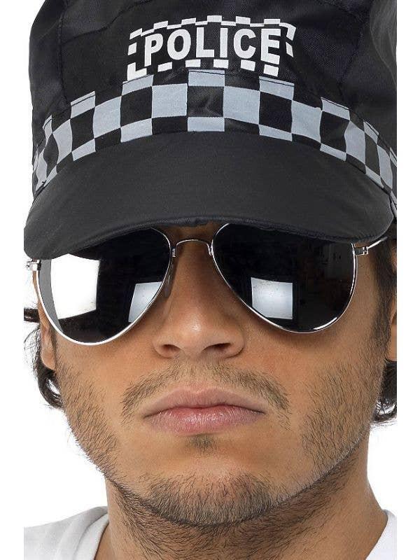3a47e2fe2a novelty mirror aviator costume sunglasses with silver frame