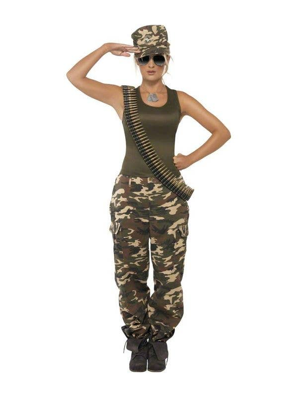Sexy army girl outfit