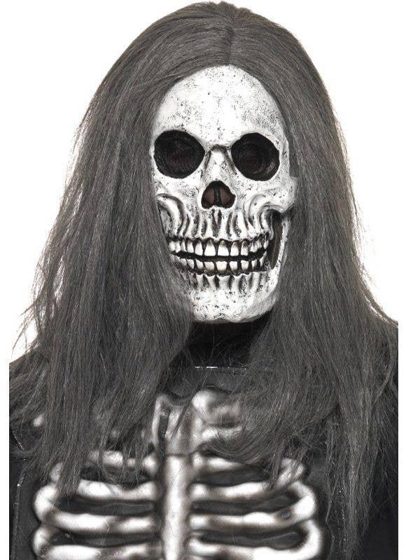 Halloween Skeleton.Skeleton Halloween Mask With Hair